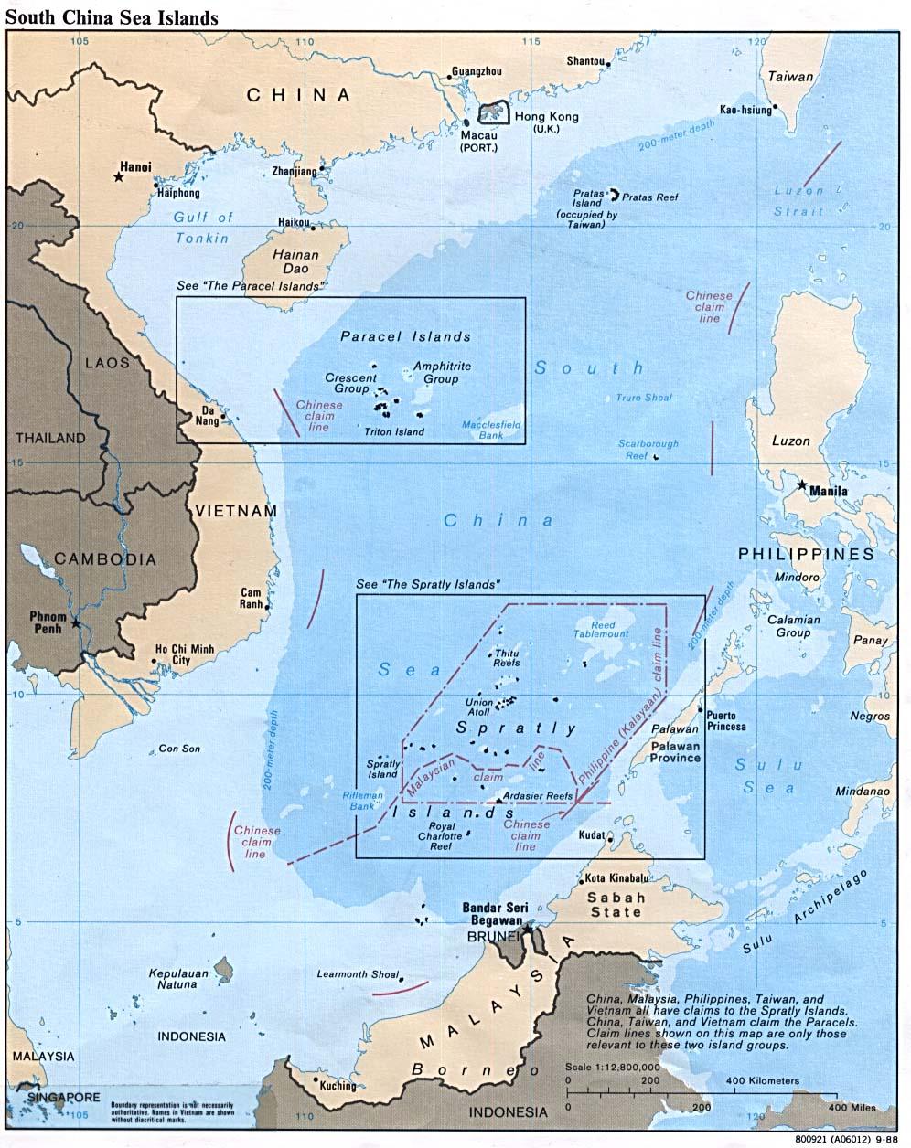 莱占的南海岛屿